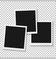 Instant Photo Blank Photo Frame Mockup vector