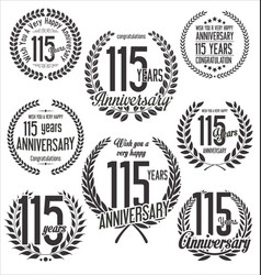 Laurel wreath anniversary collection 115 years vector