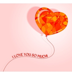 love heart balloon vector image