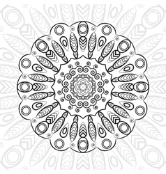 mandala highly detailed zentangle ethnic tribal vector image