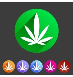 Marijuana cannabis icon flat web sign symbol logo vector