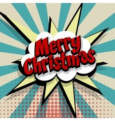 Merry Christmas blue color background vector