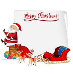 merry christmas santa and sleigh concept vector image