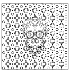 Mexican Day Of The Dead Skull vector