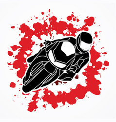 motorcycle racing graphic vector image vector image