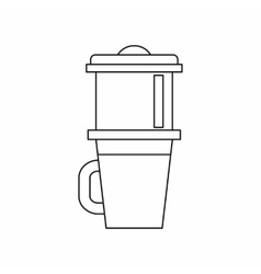 Mug for coffee icon outline style vector image vector image