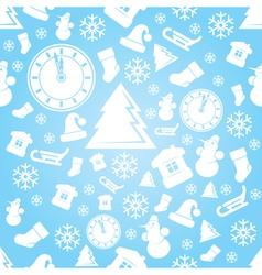 New Year Xmas Pattern vector image