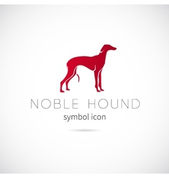 Noble Hound Silhouette Symbol Icon or Label vector image