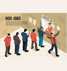 Odd jobs horizontal vector