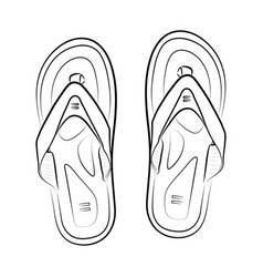 Pair of flip flops summer time vacation attribute vector