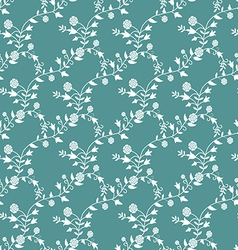 Pattern in vintage style with flowers and twigs vector