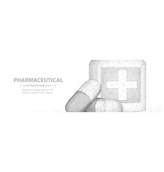 pills abstract 3d two capsule pills vector image