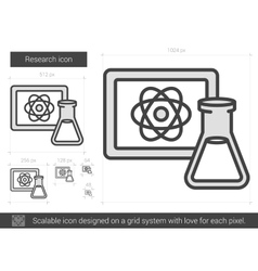 Research line icon vector