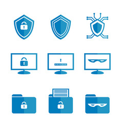 Set of icons for cybersecurity vector