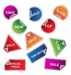 set of sale stickers vector image