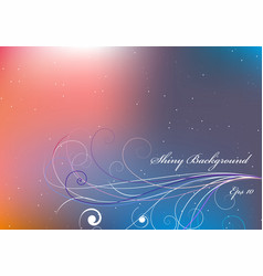 Shiny background with pink and orange and blue vector