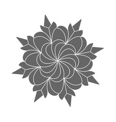 Silhouette pattern design in form a flower vector
