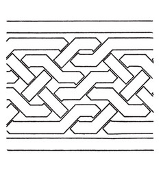 Simple moorish interlacement band found in the vector