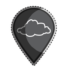 Sticker monochrome mark icon pointer gps with vector