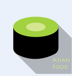 sushi icon in a flat style with a shadow vector image