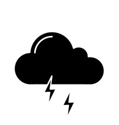 thunderstorm glyph icon vector image