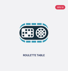 two color roulette table icon from other concept vector image
