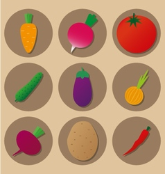 vegetables icons vector image