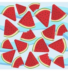 Watermelon Wave Triangle Slice Bite vector image