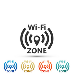 wi-fi network icon isolated on white background vector image
