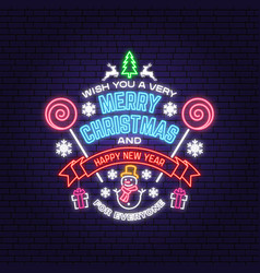 Wish you a very merry christmas and happy new year vector