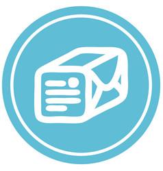 Wrapped parcel circular icon vector