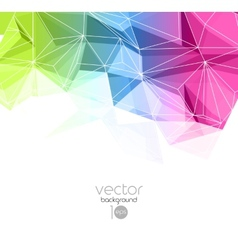 Abstract retro geometric background Template vector image vector image
