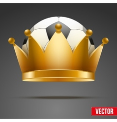 Background of Soccer ball with royal crown vector image vector image