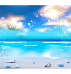 evening seascape with clouds vector image vector image