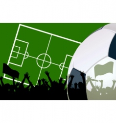 illustration of a soccer field vector image