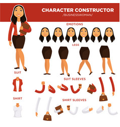 woman character constructor businesswoman face vector image vector image