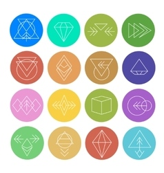 Abstract Geometric Patterns Set with Hipster Style vector image vector image