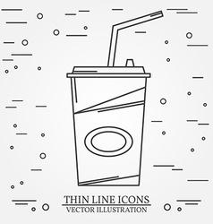 Cola icon thin line icon cola For web design and vector image