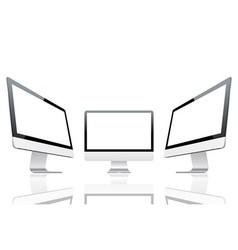 Computer monitors vector image