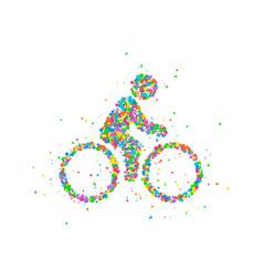 cyclists abstract biker vector image