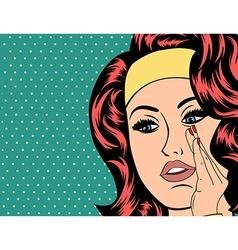 Pop Art of girl vector image