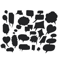 bubbles silhouettes hand drawn vector image
