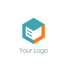 cube storage box logo vector image