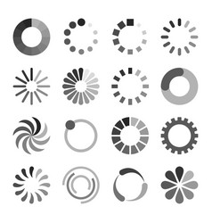 loading icons set vector image vector image