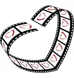 love film strip vector image vector image