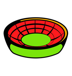 round stadium icon icon cartoon vector image vector image