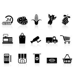 supermarket shopping icon vector image vector image