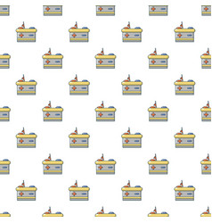 car battery pattern seamless vector image vector image