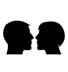 Couple silhouette man and woman vector image vector image