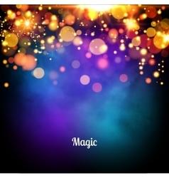 Magic background design magic lights vector image